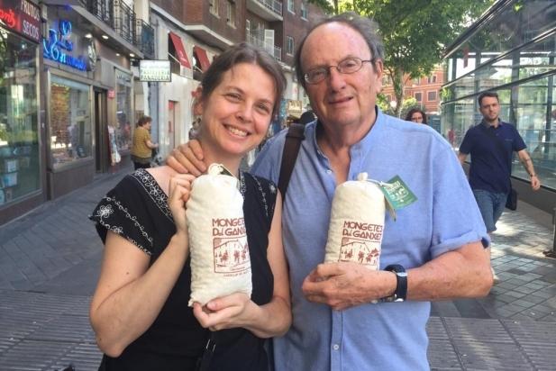 La cineasta Almudena Carracedo al costat de Pere Joan Ventura, director del BRAM!. || CEDIDA