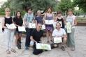 Foto de família dels sketchers de visita a Castellar / C. Domene