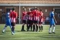 Els jugadors de la UE Castellar celebren el primer gol enfront del Juan XXIII.