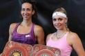 Garcia (esquerra) amb la seva companya Stollar, campiones del torneig de Székesfehérvár.    cedida