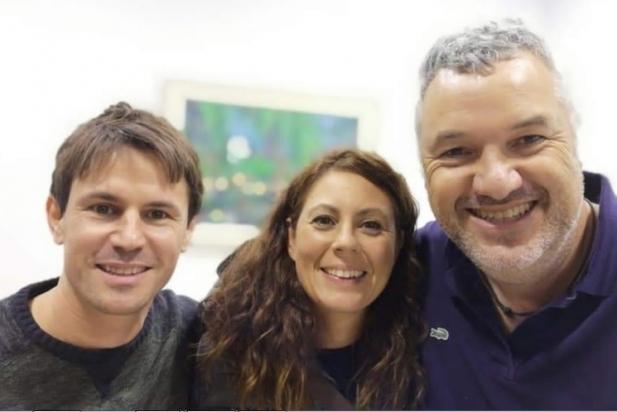Oriol Martori, fins ara president de la secció local d'ERC, Sílvia Nicolàs, nova poresidenta i Rafa Homet, portaveu del grup municipal