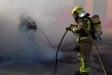 Imatge dels bombers actuant a l'incendi