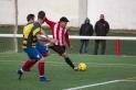 Carlos Saavedra en el moment del xut del gol de l'empat a dos.