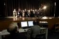 Un moment de la gravació de la Cobla Contemporània a l'Auditori, dijous, 16 de gener. || Q. Pascual