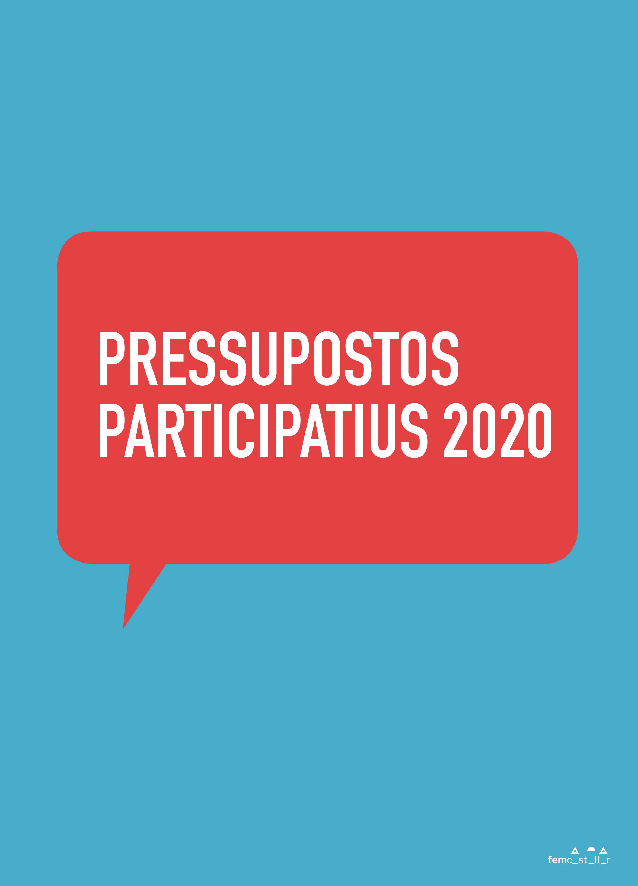 Portada Suplement pressupostos participatius 2020