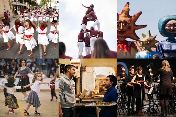 Ball de Bastons, Castellers de Castellar, Esbart Teatral, Ball de Gitanes, Grup Pessebrista i Acció Musical Castellar