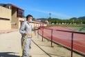 Tasques de desinfecció a les pistes d'atletisme || Aj Castellar