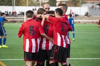 Els jugadors de la UE Castellar celebren un gole en un dels partits d'aquesta temporada.