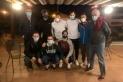 Bassols -a l'esquerra- amb alguns dels seus jugadors en una reunió que van fer la setmana pasada