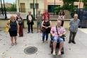 Membres de Castellar per les Llibertats i part del jurat, dilluns passat, en una roda de premsa - R.G.