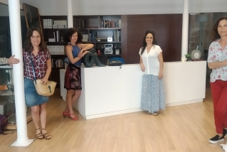 Blanca Gibert (pintora), Carme Martí (ballarina), Glòria Coma (directora de corals) i Montse Germán (actriu), reunides per L'ACTUAL. || M. ANTÚNEZ
