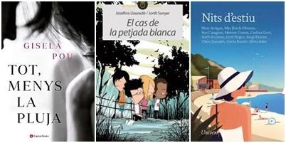 Tres dels llibres recomanats per llibreries i biblioteca per aquest estiu 2020.