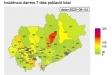 Castellar del Vallès (número 097 del mapa) manté en verd el risc de contagi en la primera setmana d'agost