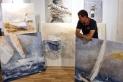 Algunes de les obres que Enric Aguilar exposa des d'avui a Girona. || CEDIDA
