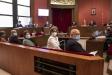 Una imatge del judici per desobediència de la Mesa del Parlament. A la dret, Lluís Corominas