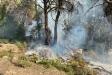 Dos bombers treballant en la zona on es va produir el darrer incendi,  a finals d'octubre, a prop de l'Airesol C || Foto: Bombers de Castellar