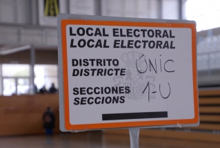 Rètol de local electoral