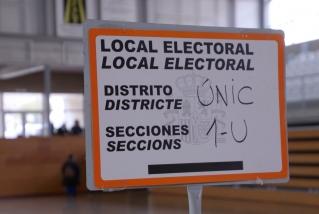 Rètol de local electoral