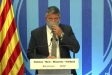 Miquel Sàmper, conseller d'Interior en funcions, valorant la supressió del toc de queda en roda de premsa