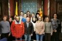 Els integrants del pla d'ocupació de 2019 amb la regidora Anna Màrmol i l'alcalde de Castellar, Ignasi Giménez
