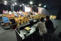 Moment de la taula rodona sobre el cinema, dissabte, a la Sala d'Actes d'El Mirador. || M. A.