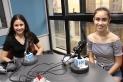Les castellarenques Lola Coma i Sofia Rodríguez - també Dani Coma - formen part activa del musical de Som Produce. || M. ANTÚNEZ