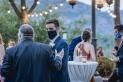 La mascareta s'ha imposat als pocs casaments que s'han dut a terme durant la pandèmia.    EL CIM ESDEVENIMENTS