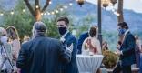 La mascareta s'ha imposat als pocs casaments que s'han dut a terme durant la pandèmia. || EL CIM ESDEVENIMENTS