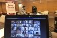 Imatge del Consell d'Alcaldies que s'ha fet aquest dimarts de forma telemàtica. Al fons, el president i alcalde de Castellar, Ignasi Giménez    CCVOCC