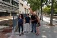 Els regidors d'ERC Dolors Ruiz, Oriol Martori, Rafa Homet i Núria Raspall davant de l'empresa CELO a la Ronda Tolosa