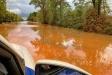 La B-124 s'ha transformat en un riu de fang a causa del xàfec d'aquesta tarda - AJUNTAMENT