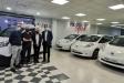 Al centre, els gerents de Motor Sport amb el regidor d'Espai Públic i l'alcalde de Castellar, dimecres passat ||AJ. CASTELLAR